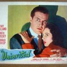 IA19 Uninvited RAY MILLAND/GAIL RUSSELL Original 1944 Portrait Lobby Card