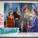 IA21 Uninvited RAY MILLAND/GAIL RUSSELL/RUTH HUSSEY 1944  Lobby Card