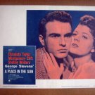 IB18 Place In The Sun MONTGOMERY CLIFT/SHELLEY WINTERS Original Lobby Card