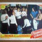 ID04 Dramatic School LANA TURNER/PAULETTE GODDARD 1938 Lobby Card