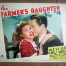 ID05 Farmer's Daughter MARTHA RAYE/CHARLES RUGGLES 1940 Portrait Lobby Card