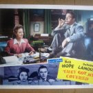 ID121 They Got Me Covered BOB HOPE/DOROTHY LAMOUR Original 1942 Lobby Card