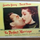 XY07 PERFECT MARRIAGE Loretta Young original 1946 lobby card
