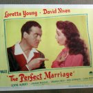 XY08 PERFECT MARRIAGE Loretta Young original 1946 lobby card