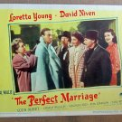XY10 PERFECT MARRIAGE Loretta Young original 1946 lobby card