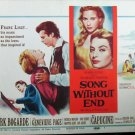 XY100 SONG WITHOUT END   Dirk Bogarde  original 1960 lobby card