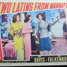 XY106 TWO LATINS FROM MANHATTAN Joan Davis/Jinx FRalkenburg orig 1941 lobby card