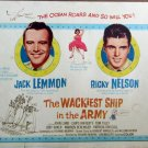 XY21 WACKIEST SHIP IN THE ARMY Jack Lemmon /Ricky Nelson orig 1960 title card