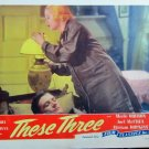 XY49 THESE THREE Merle Oberon re-release 1944 lobby card