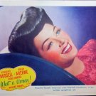 XY58 WHAT A WOMAN! Rosalind Russell original  1943 lobby card