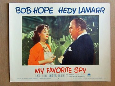 XY79 MY FAVORITE SPY  Hedy Lamarr  original  1951  lobby card