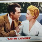 XY84 LATIN LOVERS  Lana Turner  original  1953  lobby card