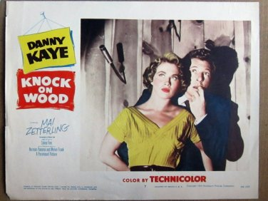 XY85 KNOCK ON WOOD  Danny Kaye   original  1954  lobby card