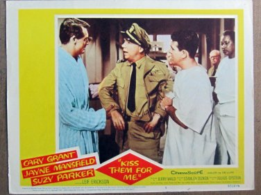 XY86 KISS THEM FOR ME  Cary Grant  original  1959  lobby card