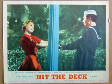 XY88 HIT THE DECK  Jane Powell and   Vic Damone  original  1955  lobby card