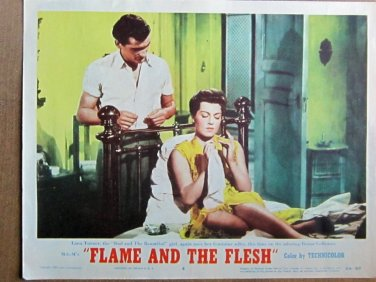 XY90 FLAME AND THE FLESH   Lana Turner  original  1954  lobby card