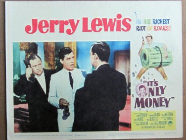 XY95 IT'S ONLY MONEY  Jerry Lewis   original  1962  lobby card