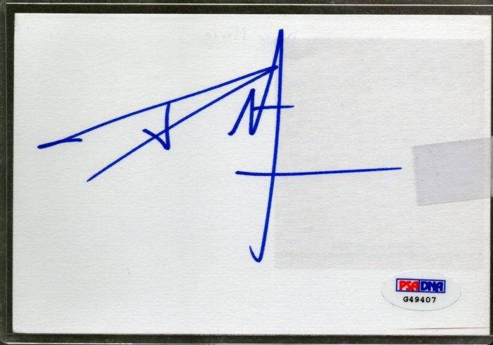 Dave Mirra Autographed Signed Index Card PSA/DNA (auto, PSA)