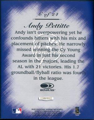 1997 Studio Master Strokes Jumbo Executive Promo/Sample Andy Pettitte XXXX/5000 Masterstrokes
