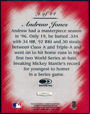 1997 Studio Master Strokes Jumbo Executive Promo/Sample Andruw Jones XXXX/5000 Masterstrokes
