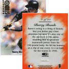1997 Studio Master Strokes Jumbo Executive Promo/Sample Barry Bonds XXXX/5000 Masterstrokes