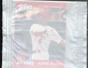 2002 Cracker Jack Prize Toy Albert Pujols in Wrapper