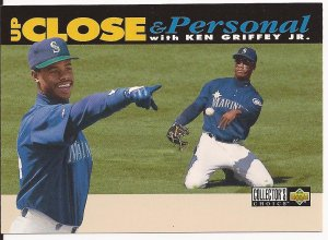 1994 Collector's Choice Up Close and Personal Ken Griffey Jr. White Border Variation/Error RARE!