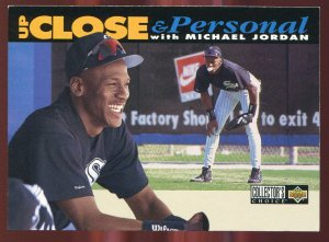 1994 Collector's Choice Up Close and Personal Michael Jordan White Border Variation/Error RARE!