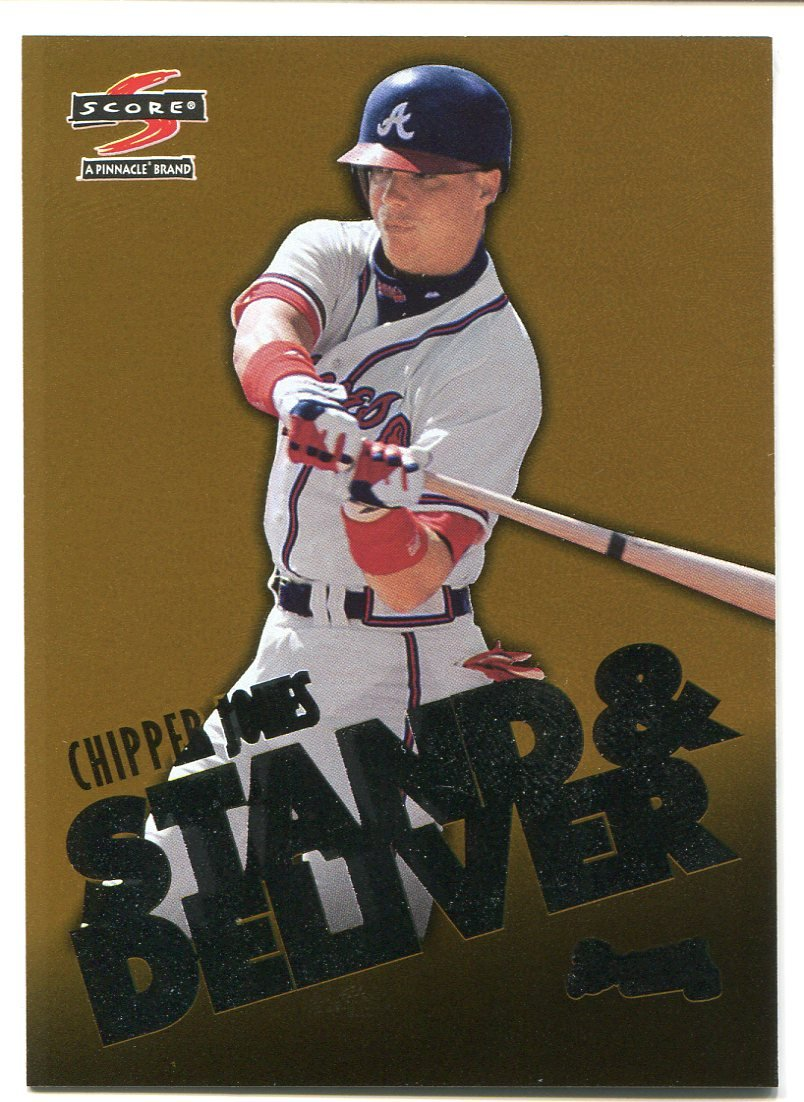 1997 Score Stand and Deliver GOLD Chipper Jones