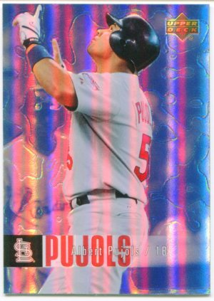 2006 Upper Deck UD Special F/X Blue Albert Pujols #419, print run of 25