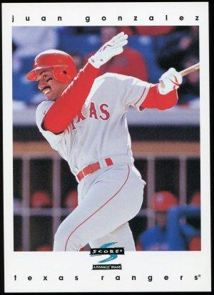 1997 Score Super Jumbo 5x7 Juan Gonzalez #6 of 9