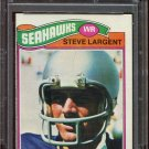 1977 Topps Football Steve Largent Rookie #177 PSA Mint 9 (OC) equals PSA 7