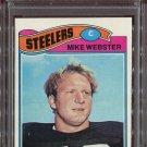1977 Topps Football Mike Webster #99 PSA 8 (OC) equals PSA 6