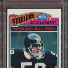 1977 Topps Football Jack Lambert #480 PSA 9 (OC) equals PSA 7, mechanical error mislabeled