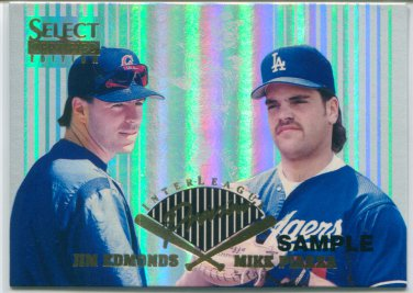 1996 Select Certified Inter-League Preview SAMPLE #4 Mike Piazza & Jim Edmonds