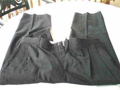 BLACK WRINKLE FREE MENS PANTS 38 X 30 EASY CARE