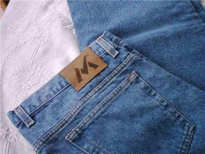 BLUE JEANS MENS 38 X 30 PRETTY BLUE NWOT