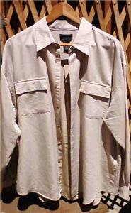 CEZANI SHIRT BEIGE LONG SLEEVES 17.5 MENS NWOT
