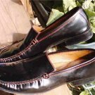 Antonio Bossi 9.5 Shoes Patent Leather Loafers Black
