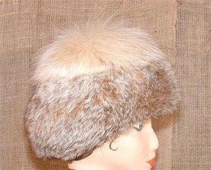 Canadian Lynx Vintage Fur Hat Not Endangered Beautiful
