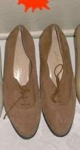 Salvatore Ferragamo Oxford Suede Lace Up Loafers 7.5 B