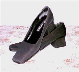 Via Spiga black textile pumps shoes heels 10