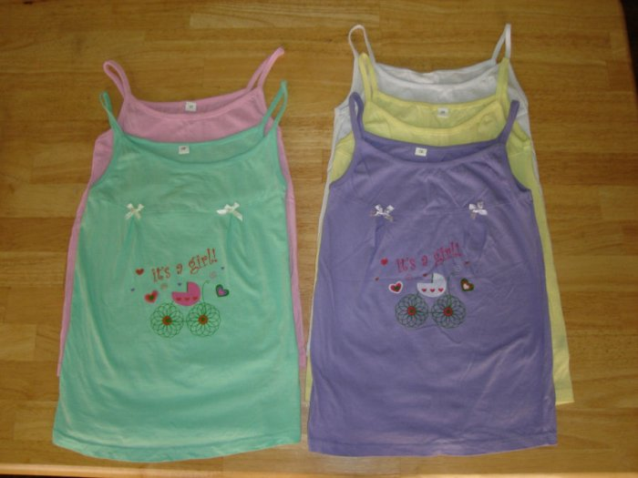 GNC-1001  Brand New Girl Tank Tops (5 pcs)