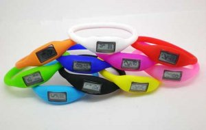 Free shipping-6pcs/Lot--Negative ion (Anion) Silicone Bracelet Watch