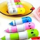 Free shipping---10 pcs/lot capsule ballpen with smiling face