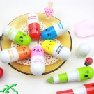 Free shipping---100 pcs/lot capsule ballpen with smiling face
