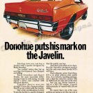"1970 American Motors Ad Print Digitized & Re-mastered ""Donohue Puts His Mark on the Javelin"" 16""x24"""