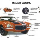 "1972 Camaro Z/28 Ad Brochure Digitized & Re-mastered Poster Print Centerfold Ad 16"" x 24"""