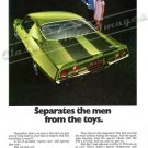 "1970 Camaro Z/28 Ad Digitized & Re-mastered Poster Print ""Separates the Men From the Toys"" 18"" x 24"""