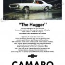 "1967 Camaro Ad Digitized & Re-mastered Poster Print ""The Hugger-White"" 18"" x 24"""